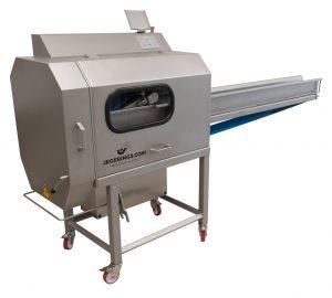 Industriële bandsnijmachine BCM-2450 om groente en fruit te snijden Jegerings.com groenteverwerkingsmachines