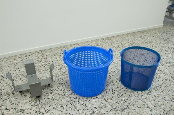Trolley centrifugemand en inzetkorf